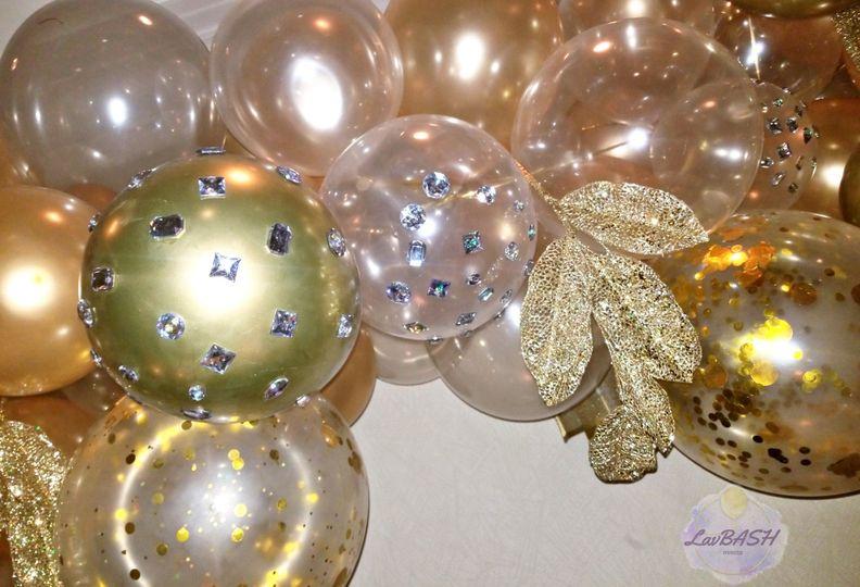 Ornamental garland close-up