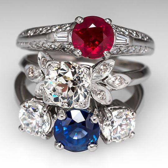 ruby diamond sapphire