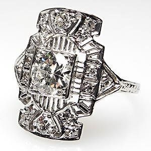 Tmx 1334783084962 Antiqueartdecoengagementringwm7115i Bellevue wedding jewelry