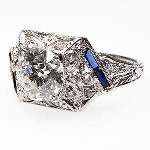 Tmx 1334783090509 Artdecoengagementringoldeuropeancutwm7165i1 Bellevue wedding jewelry