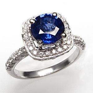 Tmx 1334783750498 Sapphirediamondhaloengagementringwm7321i Bellevue wedding jewelry
