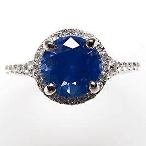 Tmx 1334783751720 Sapphirediamondhaloengagementringwm7346i Bellevue wedding jewelry