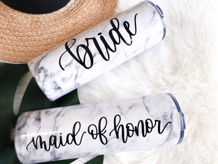 Tumblers for bridesmaids