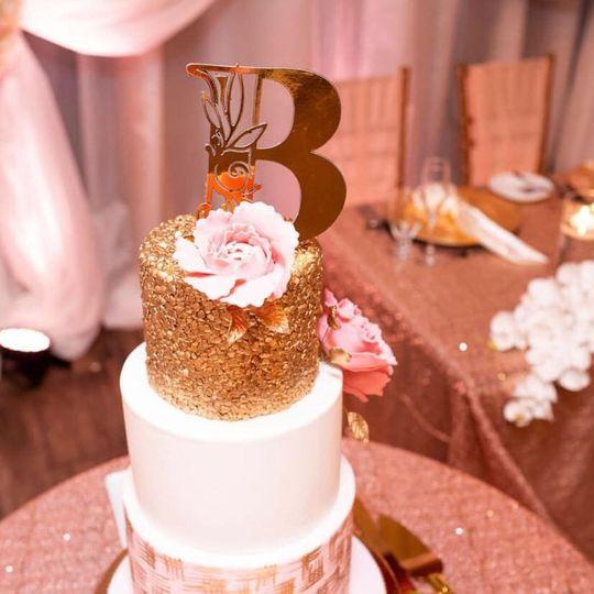 Sequin Wedding Cake