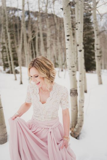 Photo: Tiffany Burke - elegant in the snow