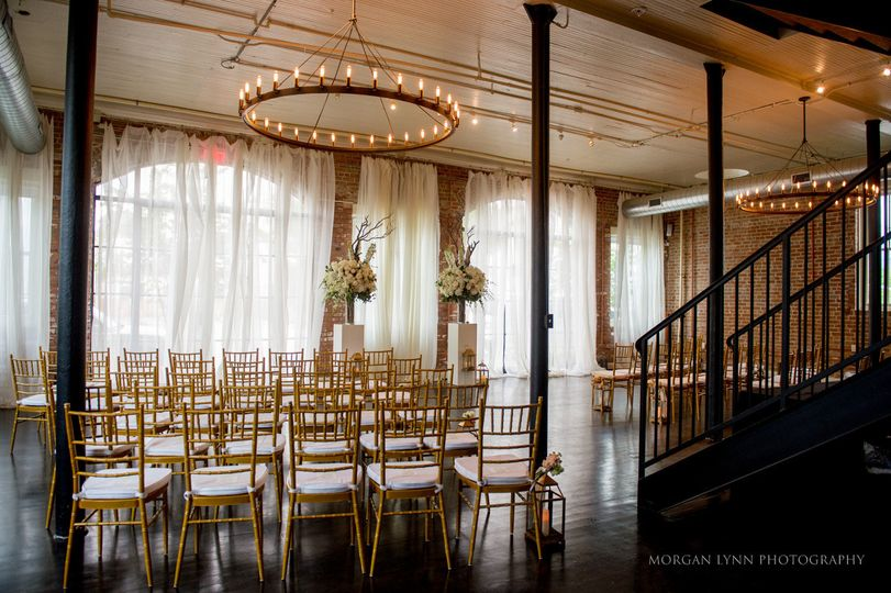 Chandelier and tables