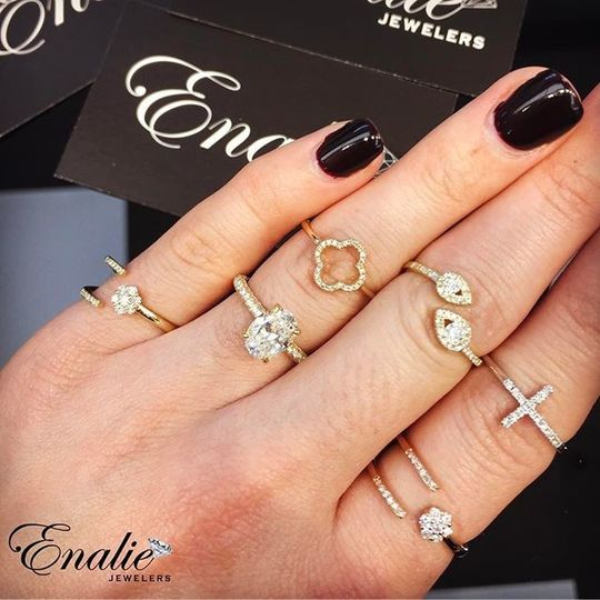 Check out our new collection of stylish yellow, rose and white gold diamond rings ?? with multiple...