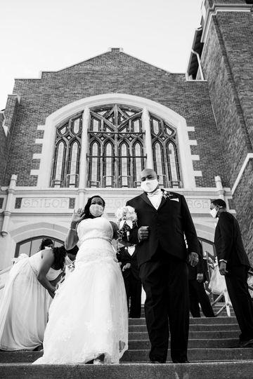 Exiting the church