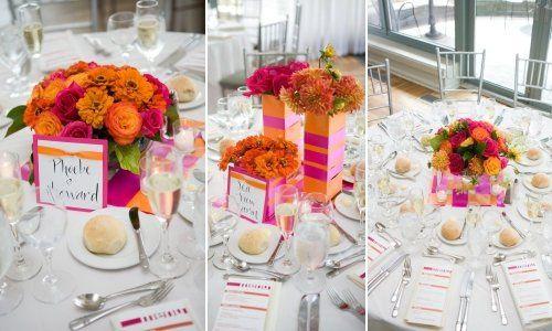 Tmx 1272986968203 BatterygardensrestaurantPinkandOrangewedding Hoboken wedding florist