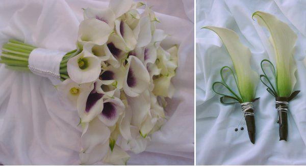 Tmx 1272987140832 Purplecallabouquetboutonniere Hoboken wedding florist