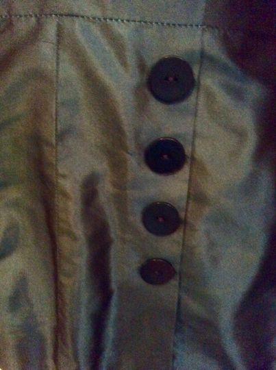 Midnight Sapphire Blue Silk Jacket Details