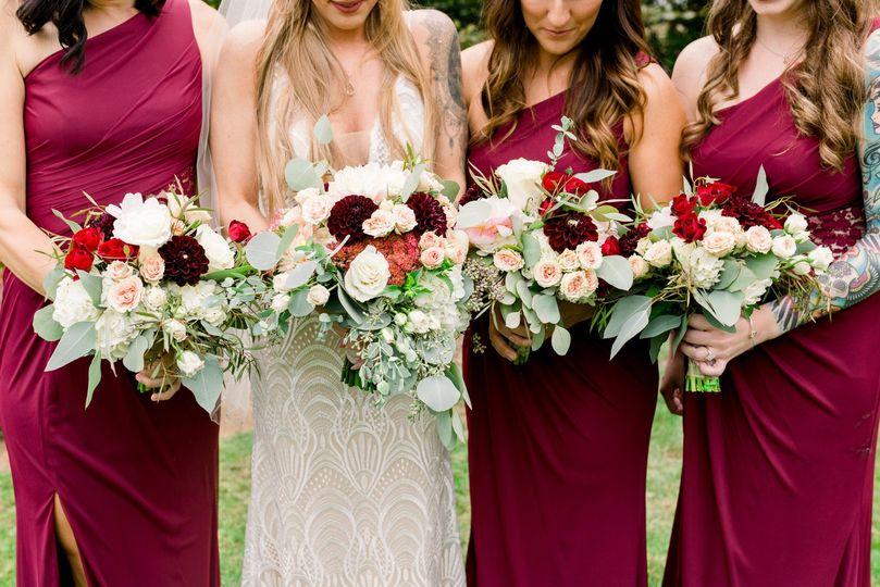 Elegant bridesmaids
