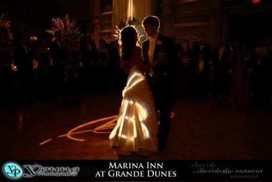 Several effects may be arranged for the sacred first dance through our onsite audio visual vendor