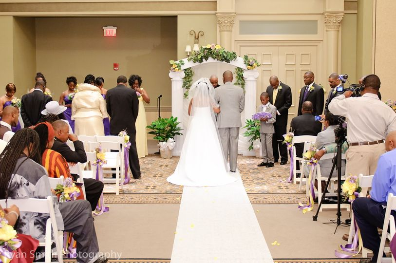 The indoor Nautilus Ballroom may be transformed into a beautiful wedding ceremony setting.