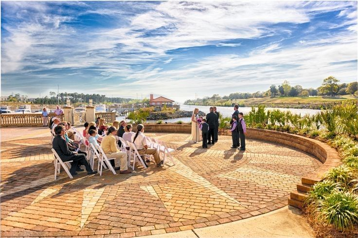 Wedding ceremony at the Marina Inn by the Grande Dunes Marina Compass Pad on a beautiful South...