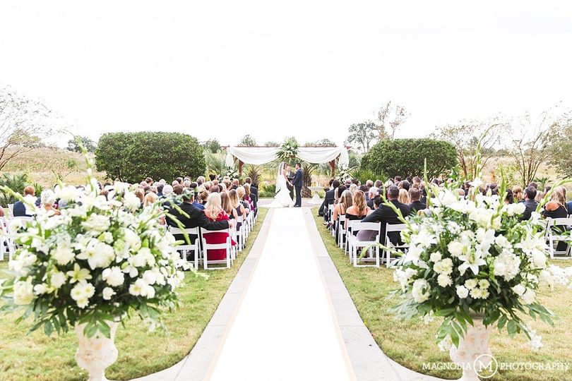 Outdoor ceremony on the lawn