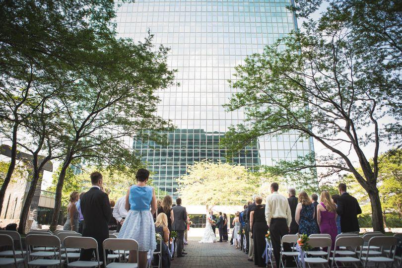 Cityscape wedding