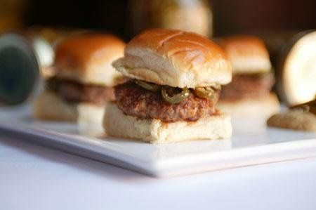 Venison Burgers...the perfect Hors D'oeuvre.