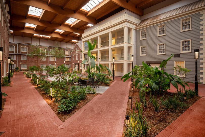 Indoor courtyard daytime