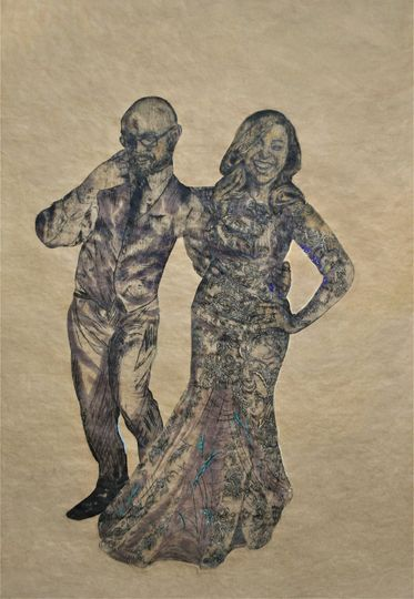 Wedding wood lithograph