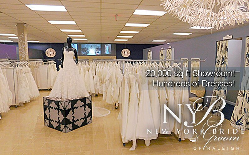 new york bride groom of raleigh large showroom