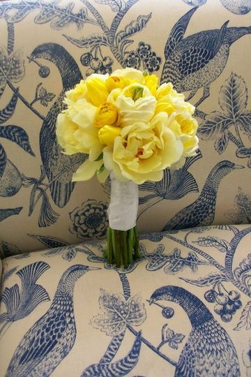 yellow peonies garden roses tulips and ranuncull
