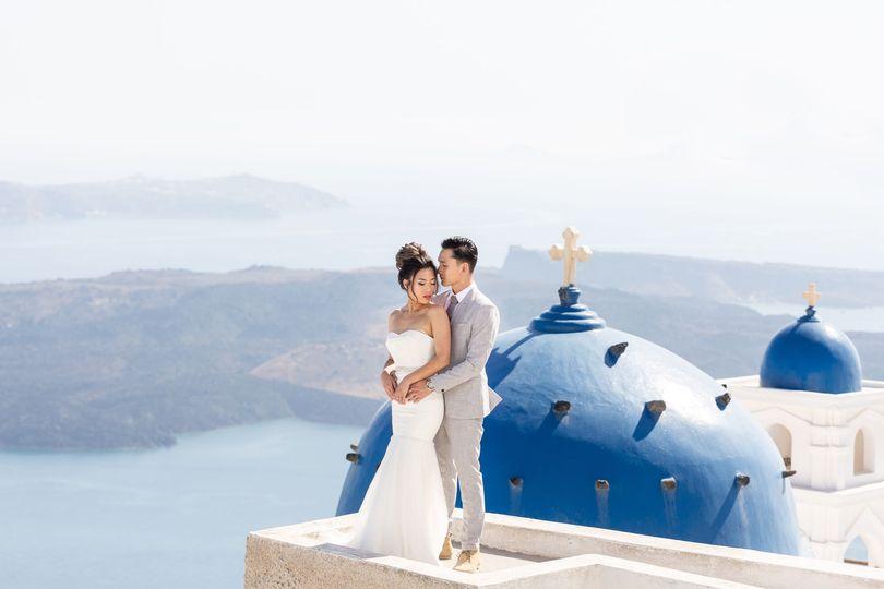 Blue domes, Imerovigli