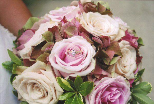 Antique Hydrangea and Rose Bouquet