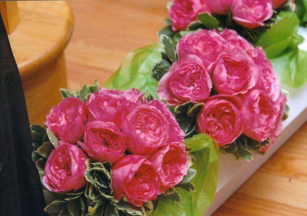 Amazing Hot Pink Bridesmaids Bouquet of Garden Roses