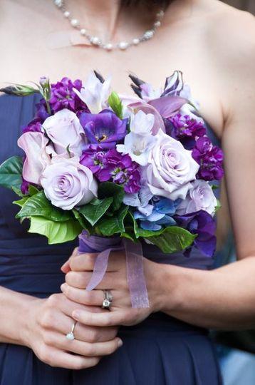 Rich Purple Bridesmaid Bouquet