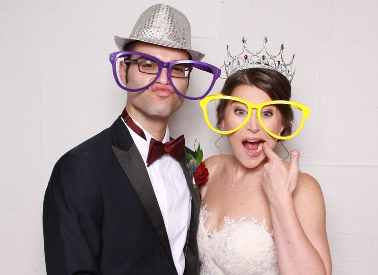 Silly bride and groom