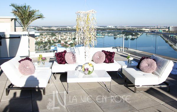 Lavieenrosepurpleroseyelloworchidchandelierwhiteloungefurnitureweddingwestintampa