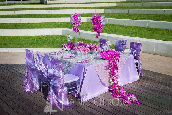 Tmx 1356133126889 Lavieenrosepurpleorchidroseflowercenterpiecewildflowerlinenweddingtampamuseumart Tampa, FL wedding florist