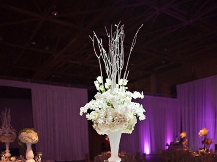 Tmx 1356133198198 Lavieenrosewhiteorchidtuliproseflowercenterpiecenuagelinentseweddingdinner Tampa wedding florist