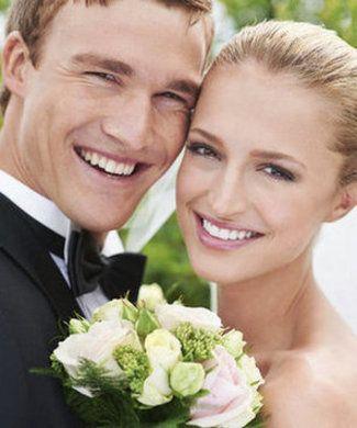 Newlyweds' smiles