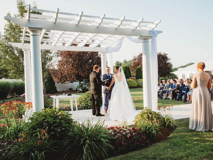 Tmx The Villa Tent July Wedding Lauren And Mark During Ceremony 51 635281 158402967196647 East Bridgewater wedding venue