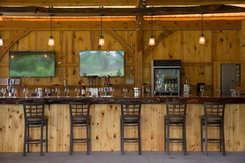25-foot white oak bar in The Hangtime