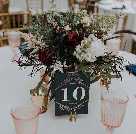 Table number | Jana Foo Photography