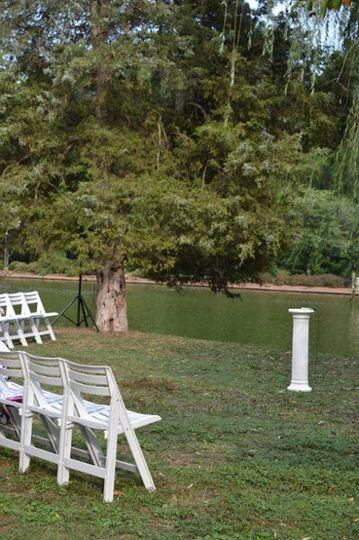 Setup for wedding ceremony