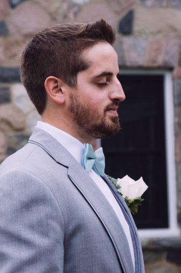 First Look: the groom