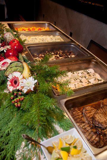 at the buffet