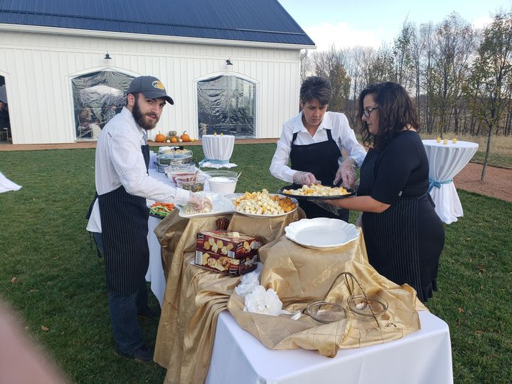 Staff Setting up Appetizers
