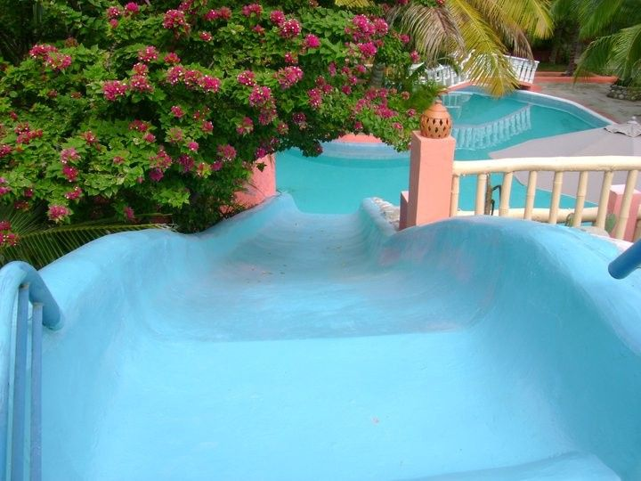 Slide into the pool