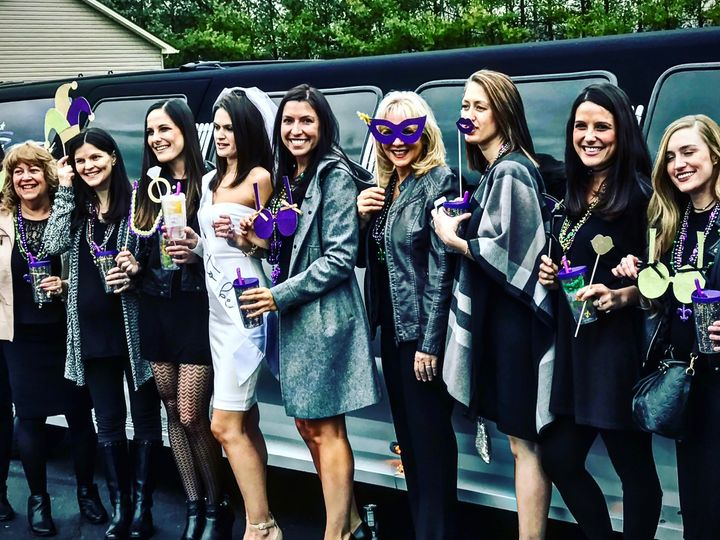 Tmx Bachelorette Party With Ford Excursion 18522 Super Stretch 51 903381 Youngstown, Ohio wedding transportation