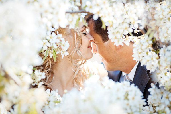 bigstockKissingweddingcoupleinspri12139640