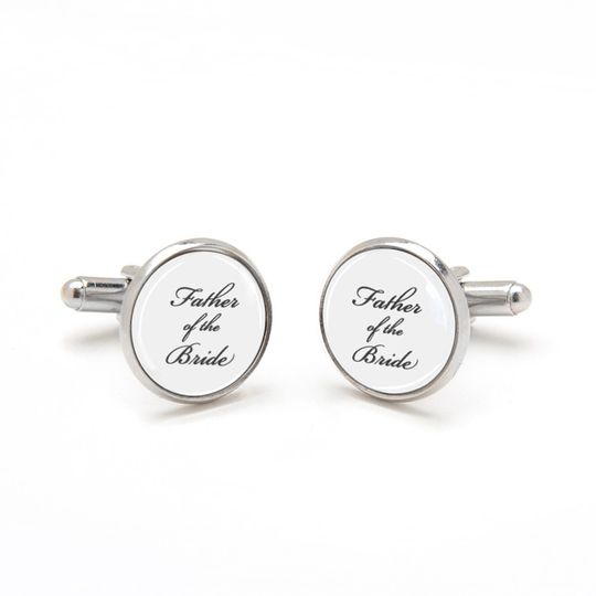 Father of the Bride Cufflinks. Perfect sentimental keepsake gift from bride to dad.  Laser printed...