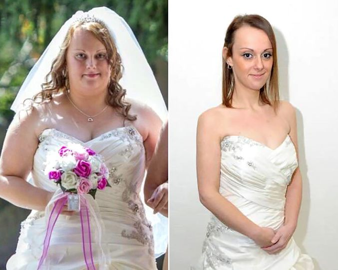 Bride before and after
