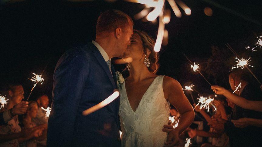 Lindsay + Andrew's sparkler se