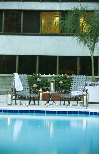 Relax in our outdoor pool at the crowne plaza.