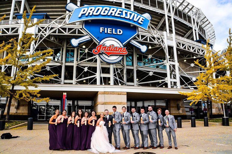 Cleveland baseball wedding